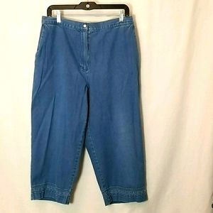 Alfred Dunner Capri Cropped Jeans Size !4